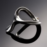 JCobra Silver Cock Ring with Natural Pearl