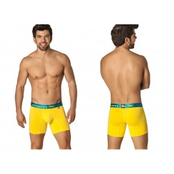 Xtremen Microfiber Bold Long Boxer Yellow With Blue Waistband