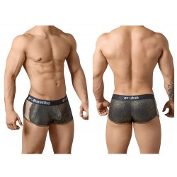 PIK 8439 Shiny Cheeky Boxer Briefs Color Black