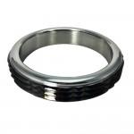 Black Raised Stud Stainless Steel Cock Ring